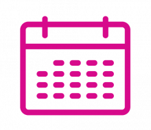 Icon: events (pink line drawing of calendar)
